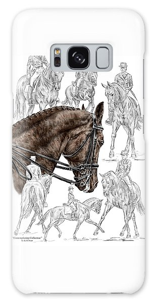 Contemplating Collection - Dressage Horse Print Color Tinted Galaxy Case