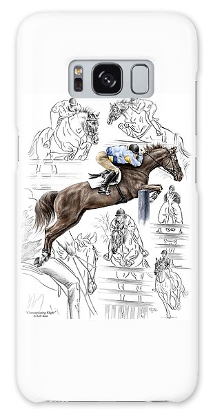 Contemplating Flight - Horse Jumper Print Color Tinted Galaxy Case by Kelli Swan