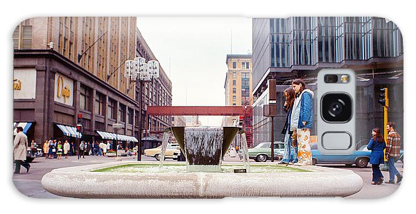 Contemplating The Fountain At 8th And Nicollet. Galaxy Case