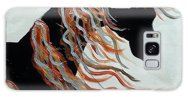 Contemporary Abstract Metallic Horse  Galaxy Case