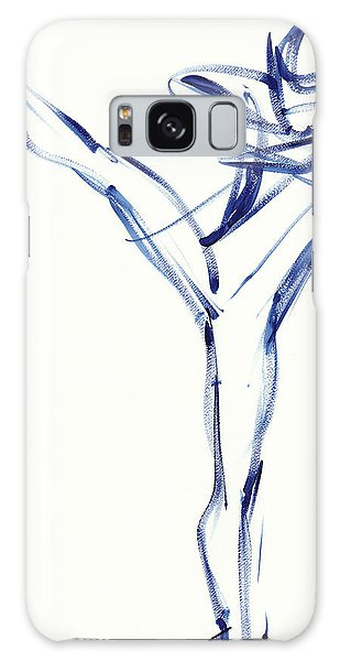 Contemporary Ballet Dancer, Blue Galaxy Case