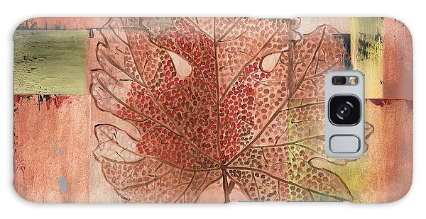 Foliage Galaxy Case - Contemporary Grape Leaf by Debbie DeWitt