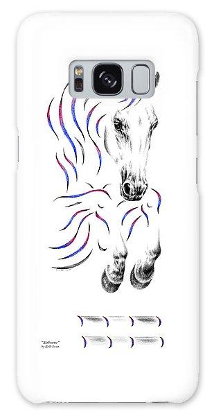Contemporary Jumper Horse Galaxy Case