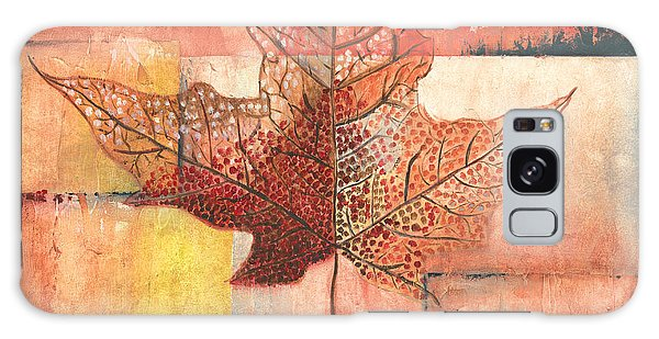 Autumn Galaxy Case - Contemporary Leaf 2 by Debbie DeWitt