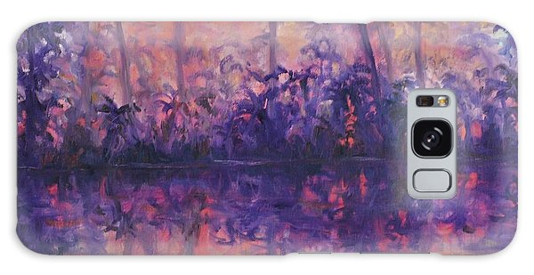 Contemporary Nature Painting Tropical Lake Sunset Galaxy Case