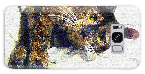 Calico Cat Galaxy Case - Contented Cat by Jane Schnetlage