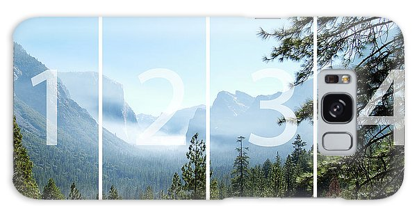 Controlled Burn Of Yosemite Panoramic Map Galaxy Case