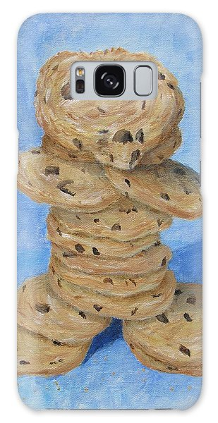 Galaxy Case featuring the painting Cookie Monster by Nancy Nale