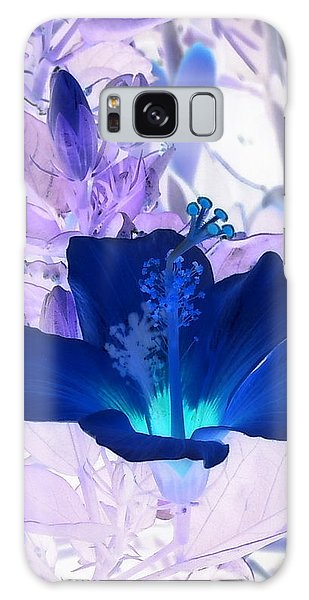 Cool Blue Hawaiian Hibiscus Galaxy Case