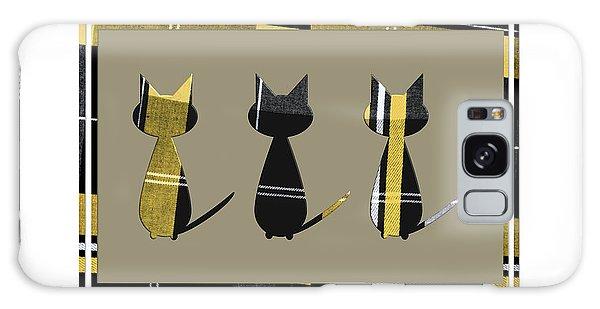 Cool Cats In Tartan Galaxy Case