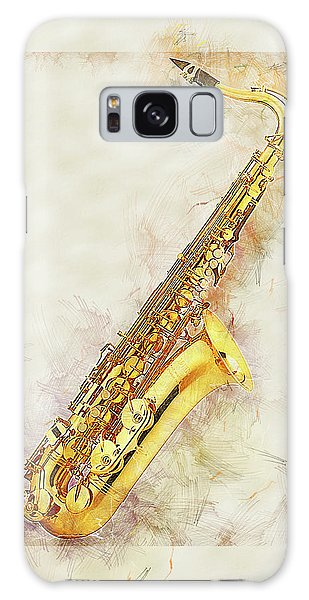Cool Saxophone Galaxy Case