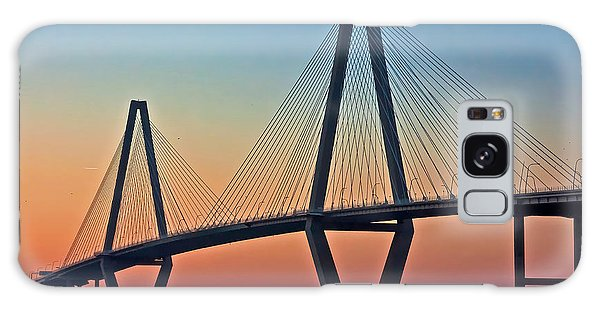 Cooper River Bridge Sunset Galaxy Case by Suzanne Stout