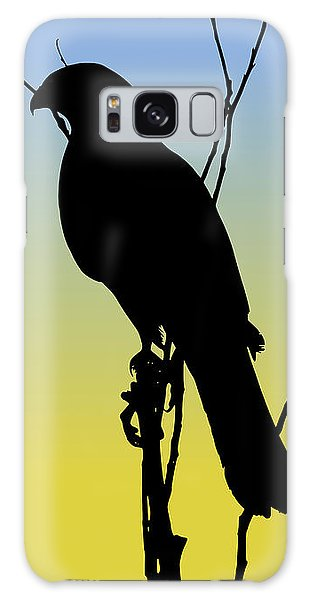 Coopers Hawk Silhouette At Sunrise Galaxy Case