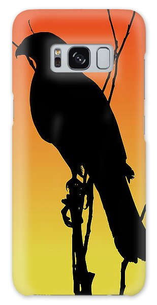 Coopers Hawk Silhouette At Sunset Galaxy Case