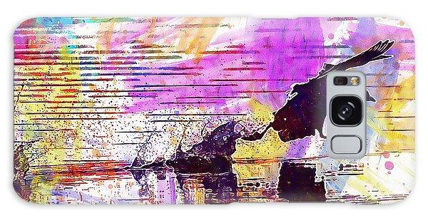 Galaxy Case featuring the digital art Coot Bird Water Bird  by PixBreak Art