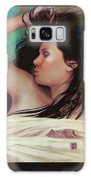 Galaxy Case featuring the painting Copper Dreamer by Ragen Mendenhall