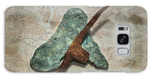 Copper Nugget Rock Hammer And Map Galaxy Case