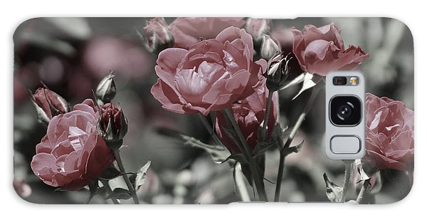 Copper Rouge Rose In Almost Black And White Galaxy Case