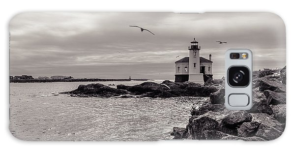 Coquille Lighthouse Oregon  Galaxy Case
