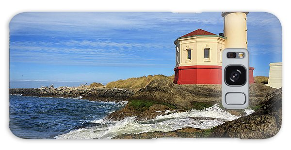 Coquille River Lighthouse At Bandon Galaxy Case