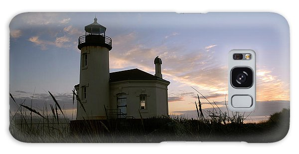 Coquille River Lighthouse At Sunset Galaxy Case