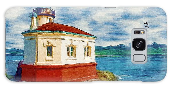 Coquille River Lighthouse Galaxy Case by Jeff Kolker