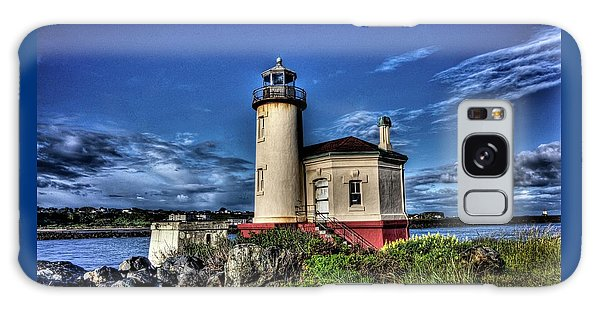 Coquille River Lighthouse Galaxy Case by Thom Zehrfeld