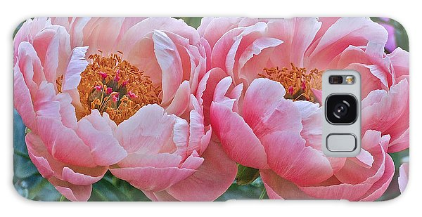 Coral Duo Peonies Galaxy Case
