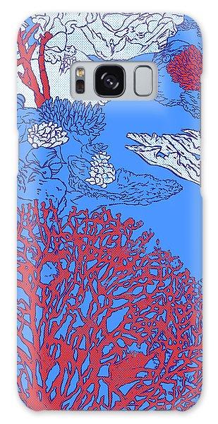 Reef Diving Galaxy Case - Coral Reef by Evgenia Chuvardina