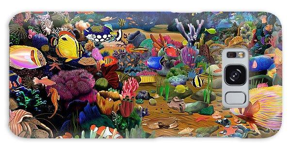 Reef Diving Galaxy Case - Coral Reef by MGL Meiklejohn Graphics Licensing