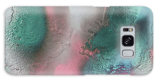 Coral, Turquoise, Teal Galaxy Case