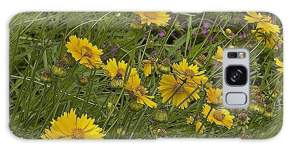 Coreopsis And Mexican Heather Galaxy Case