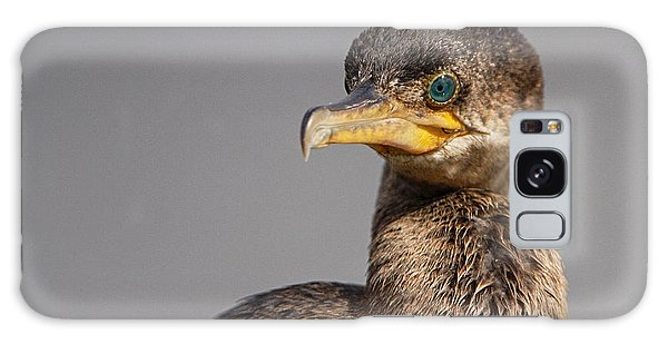 Cormorant Portrait Galaxy Case