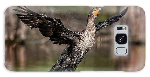 Cormorant Shaking Off Water Galaxy Case