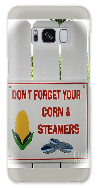 Corn And Steamers Galaxy Case by Beth Saffer