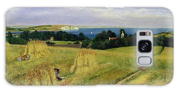 Islands In The Sky Galaxy Case - Corn Field In The Isle Of Wight by Richard Burchett
