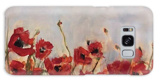 Corn Poppies In Remembrance Galaxy Case