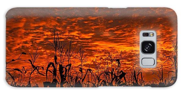 Corn Under A Fiery Sky Galaxy Case