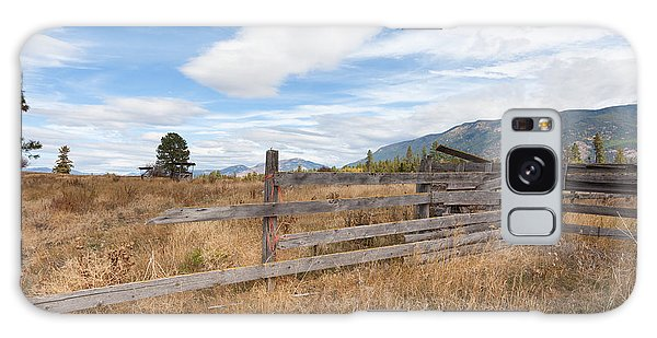 Galaxy Case featuring the photograph Corner Fence by Fran Riley