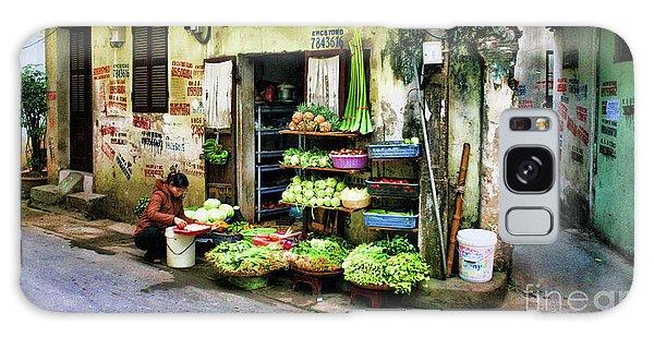 Corner Fresh Veggies Vietnam  Galaxy Case by Chuck Kuhn