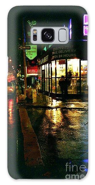 Corner In The Rain Galaxy Case by Miriam Danar