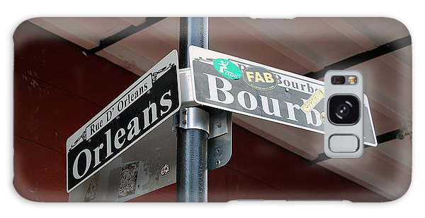 Corner Of Bourbon Street And Orleans Sign French Quarter New Orleans Galaxy Case