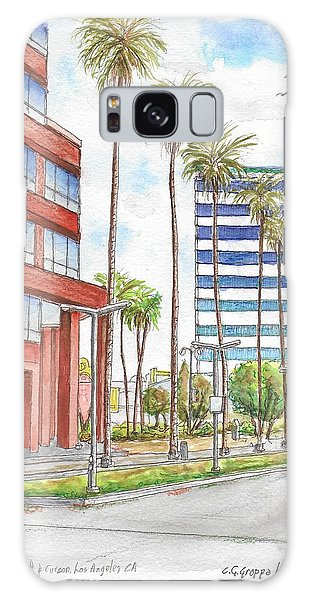 Corner Wilshire Blvd. And Curson, Miracle Mile, Los Angeles, Ca Galaxy Case by Carlos G Groppa