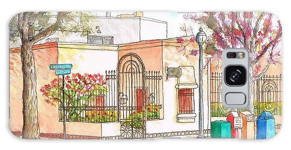 Corner With Bougainvillas In San Luis Obispo, California Galaxy Case