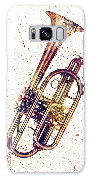 Musical Galaxy Case - Cornet Abstract Watercolor by Michael Tompsett