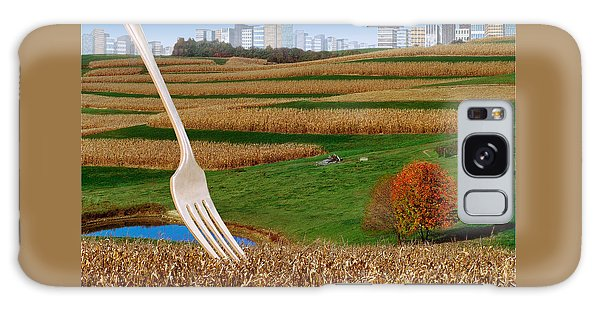 Cornfields With City Galaxy Case