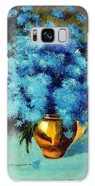 Cornflowers Galaxy Case by Henryk Gorecki