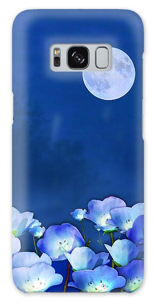 Cornflowers In The Moonlight Galaxy Case