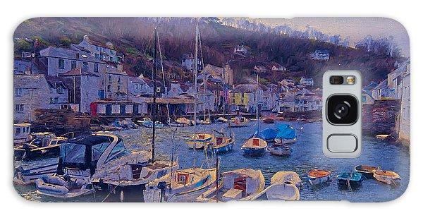 Cornish Fishing Village Galaxy Case