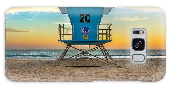 Coronado Beach Lifeguard Tower At Sunset Galaxy Case